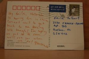 Une carte postale de Chine